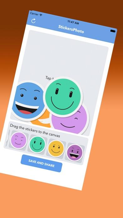 Netter Emoticons AufkleberScreenshot von 3