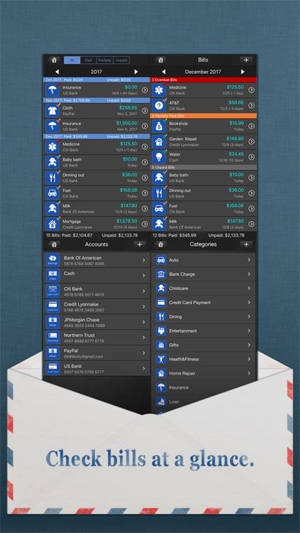 Bills Monitor Pro screenshot-4