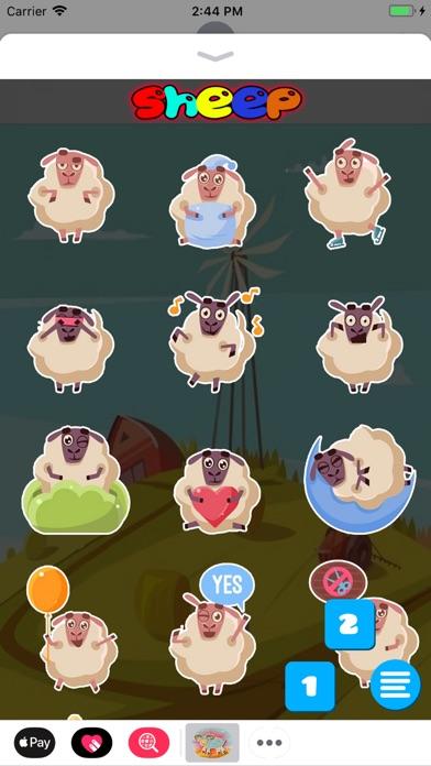 Screenshot of Sheep Sticker App
