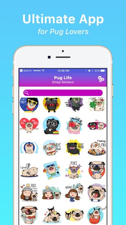 Pug Life Emoji Stickers screenshot-3