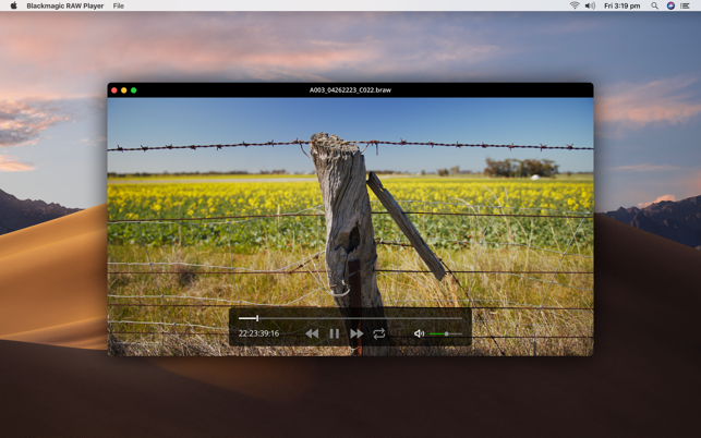 Blackmagic RAW Player on the Mac App Store