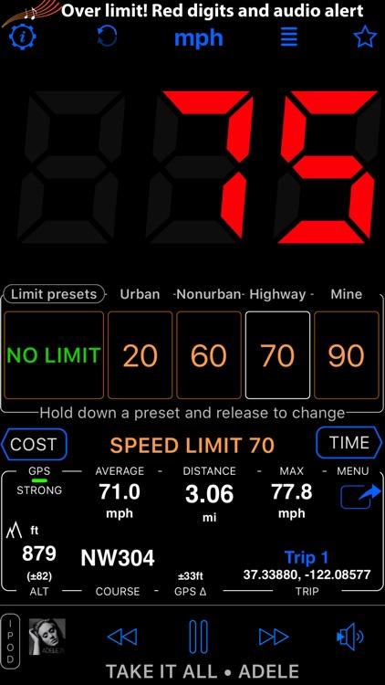 Speedometer 55 GPS Speed & HUD screenshot-3