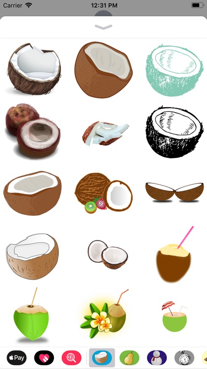 Coconut Stickers