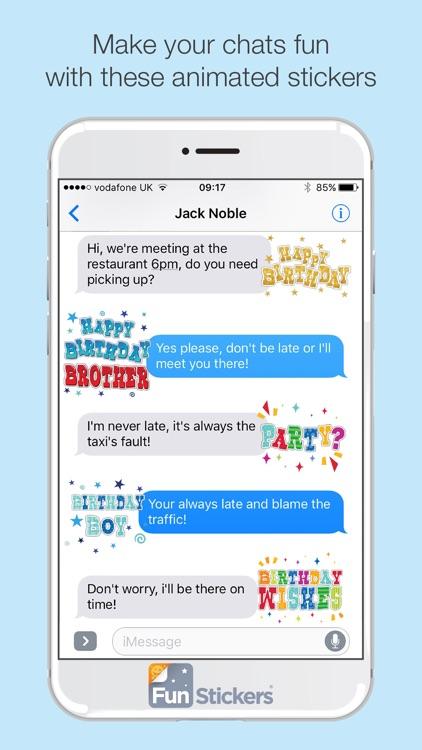 Happy Birthday iSticker screenshot-3
