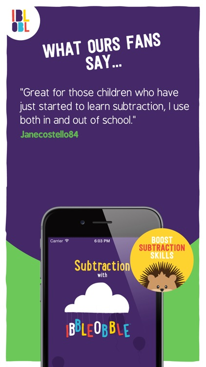 Subtraction with Ibbleobble screenshot-4