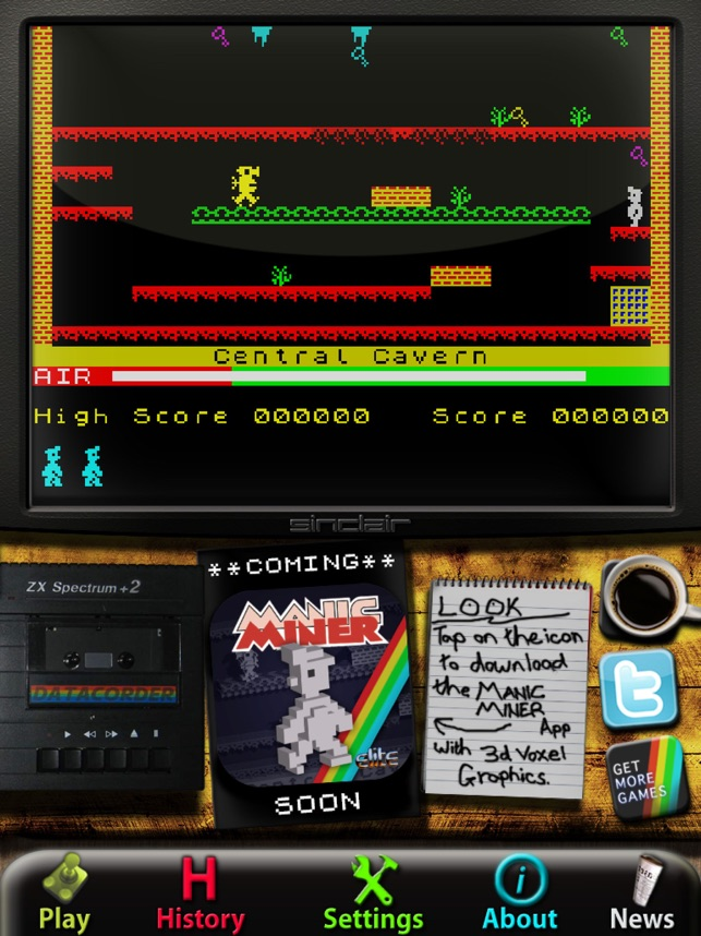 Manic Miner: ZX Spectrum HD Screenshot