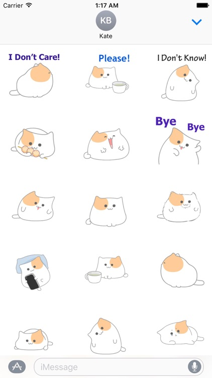 Animated So Cute Cat Sticker