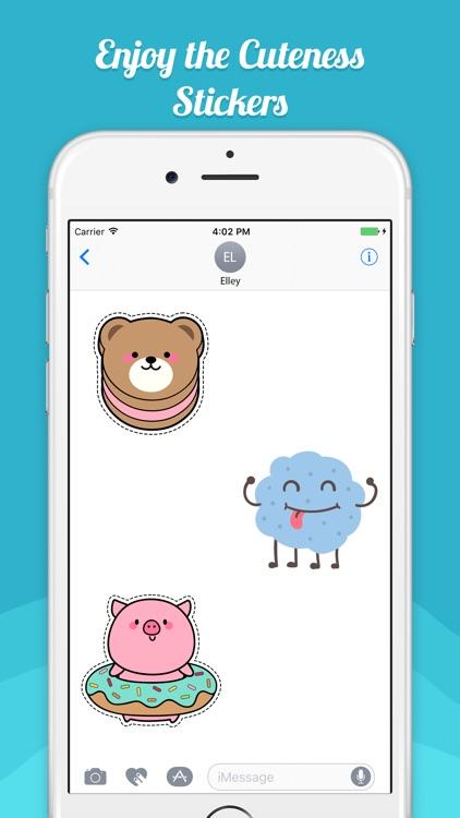 Cuteness Sticker For iMessage screenshot-3