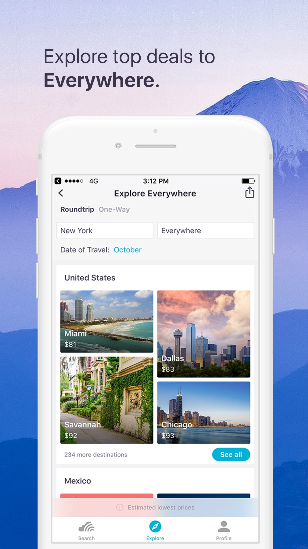 Skyscanner Flights Hotels Cars Screenshot