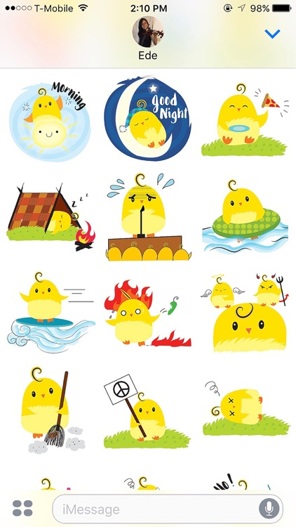 Cute Ming Cheep Stickers screenshot-2