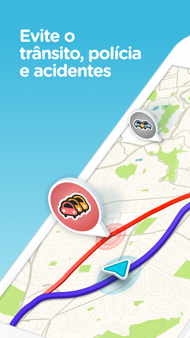 Screenshot for Waze – GPS e Trânsito ao vivo in Brazil App Store