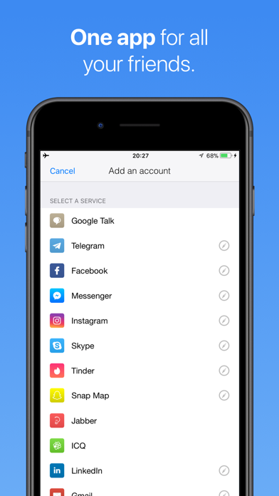 IM+ Instant Messenger by SHAPE GmbH (iOS, United States) - SearchMan
