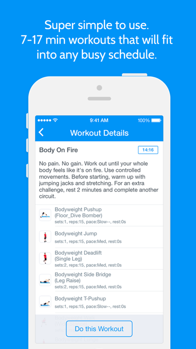 Instant Fitness: Workout Trainer Screenshot