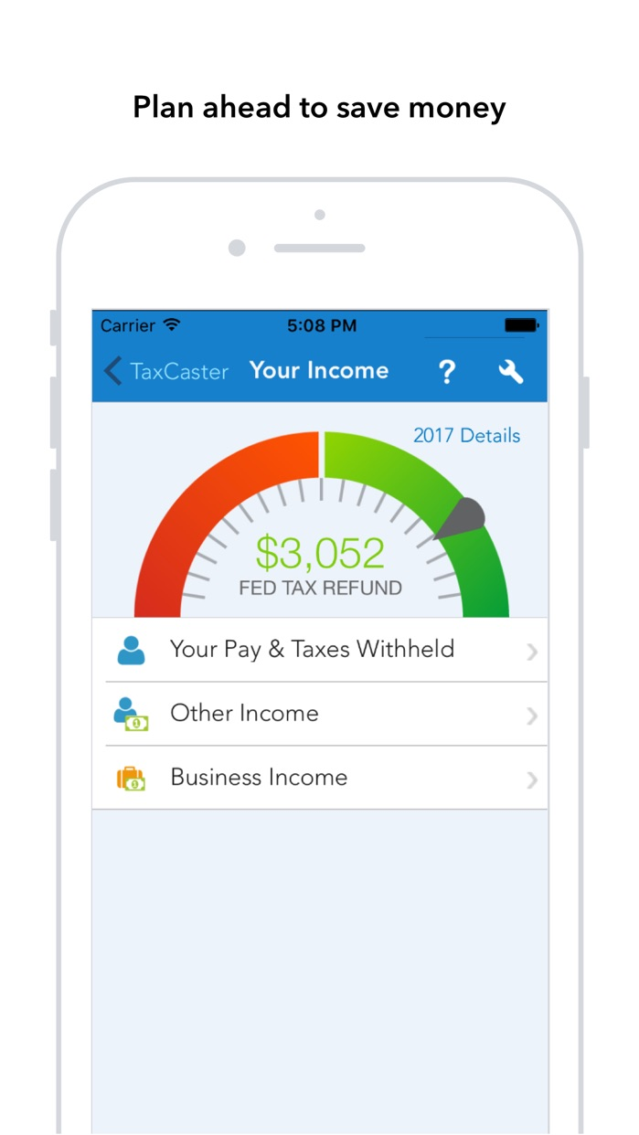 TaxCaster: Free Tax Calculator Screenshot