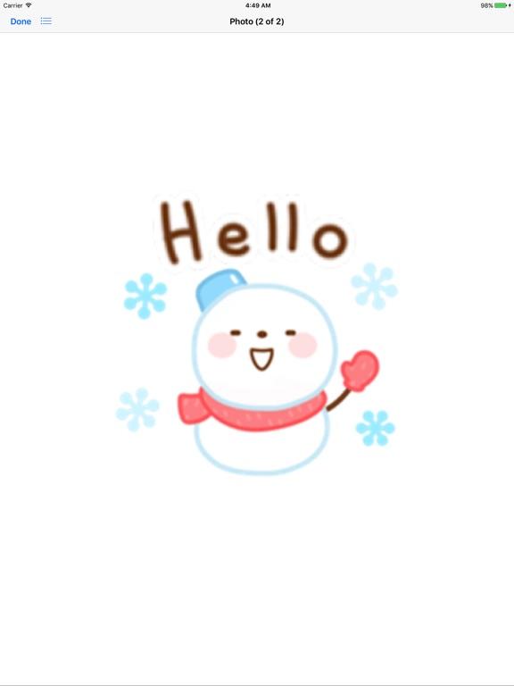 Cute Snowman Emoji Sticker screenshot 6