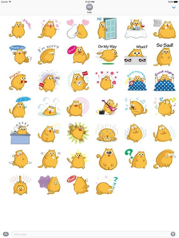 Funny Chubby Cat Sticker screenshot 4