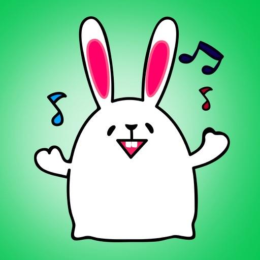 Lovely rabbit emoji