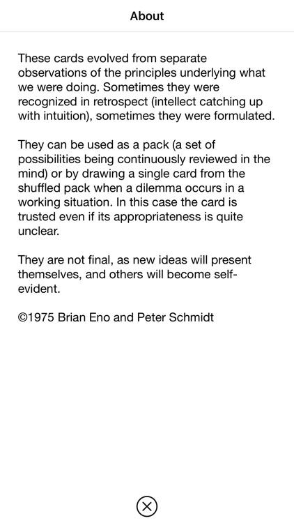Oblique Strategies SE screenshot-9