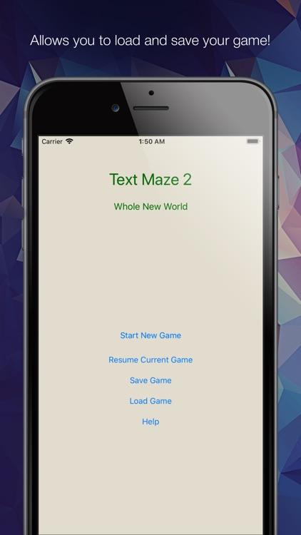 Text Maze 2 - Whole New World screenshot-3