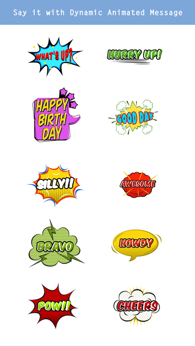 Animated Comic Speech Bubbles Pack Collection screenshot 3