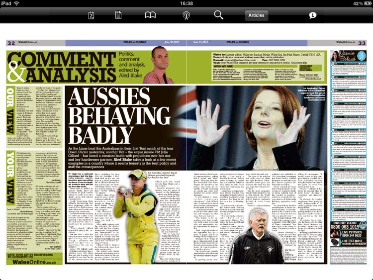 Wales on Sunday Newspaper screenshot-3