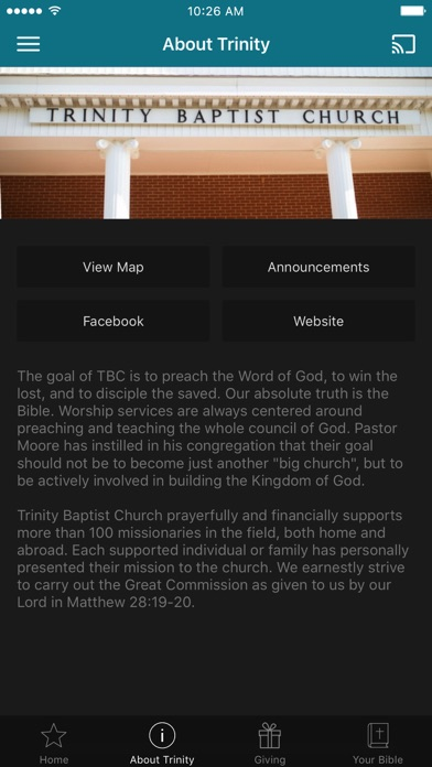 Trinity Baptist Church GA screenshot 2