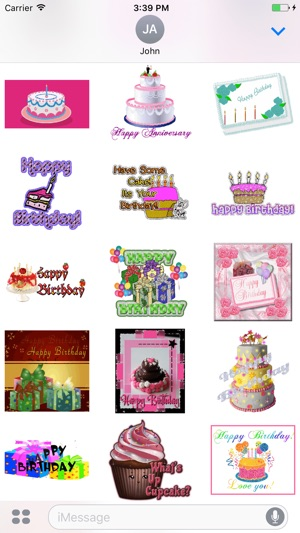 Animated Birthday Cake GIF Stickers on the App Store