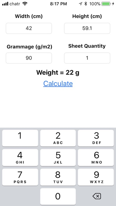 Screenshot for Metric Paper Weight in Egypt App Store