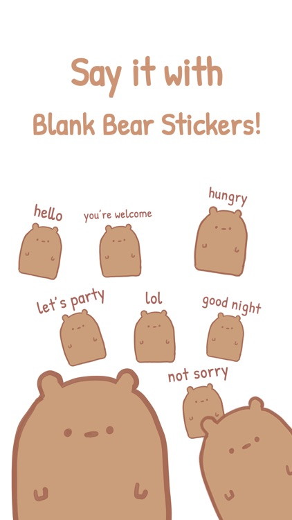 Blank Bear Stickers screenshot-1