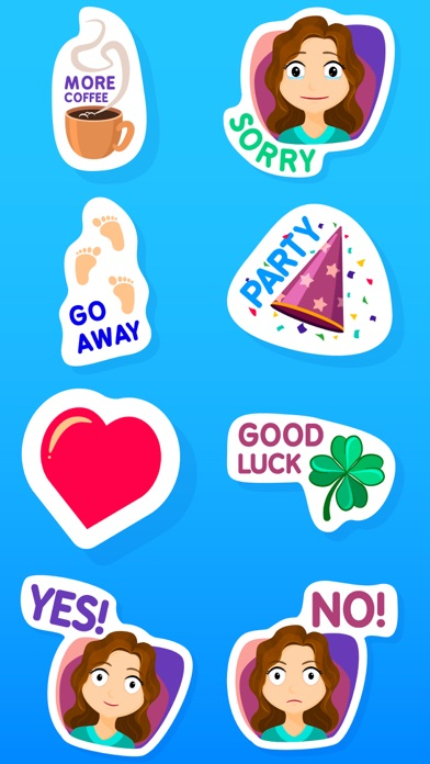 Fiona the Messy Girl Stickers screenshot three