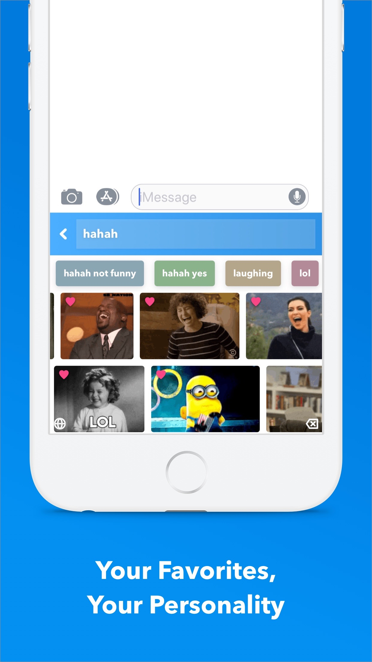 GIF Keyboard Screenshot