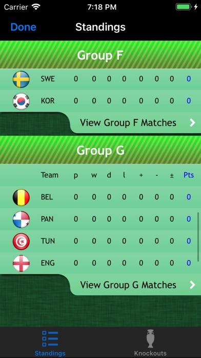 World Cup App 2018 review screenshots