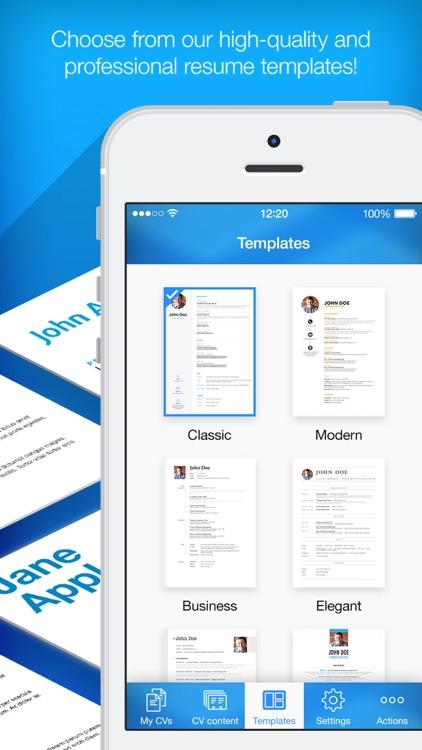 Resume Builder; Resume Creator screenshot-3