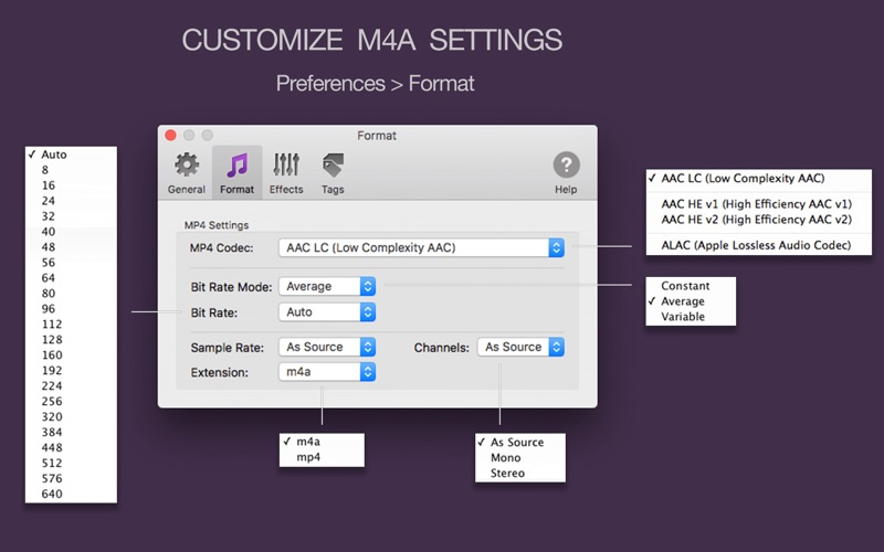 To M4A Converter Lite Screenshot