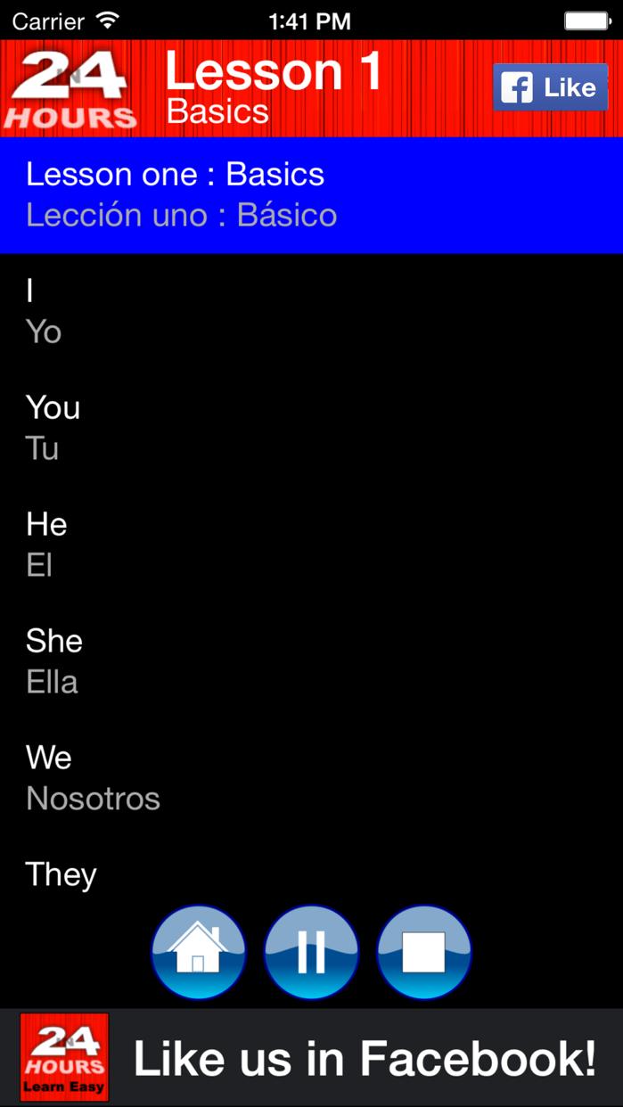 In 24 Hours Learn Spanish Screenshot