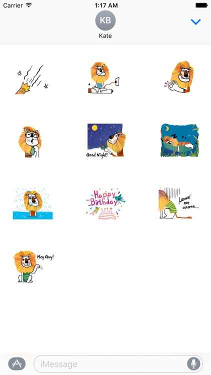 Lovely Lion Emoji Sticker