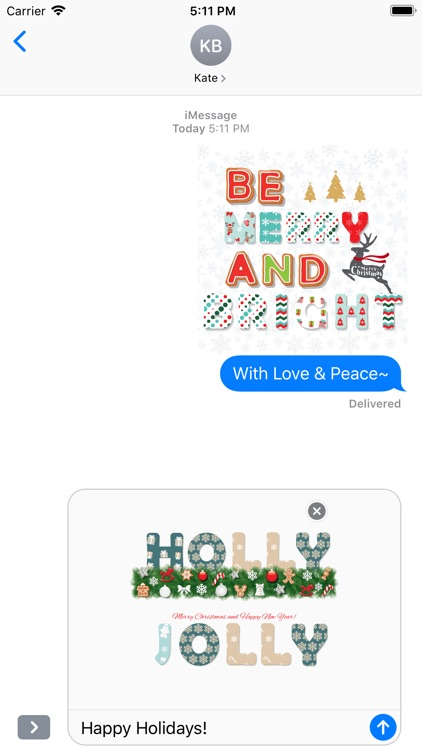Christmas Lettering Stickers . screenshot-4