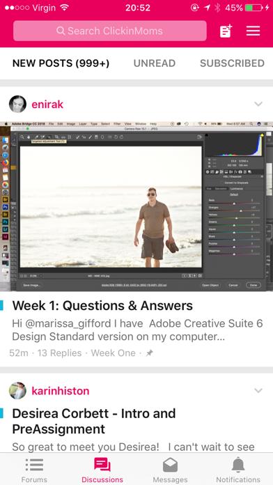 Clickin Moms Member Forum App review screenshots