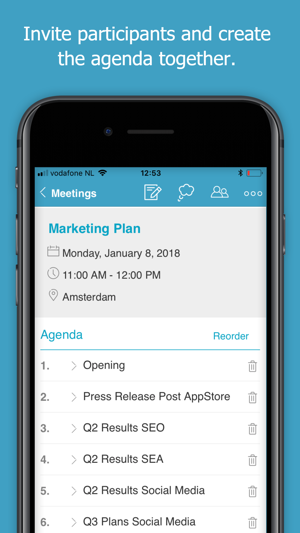 minute makes meetings easy on the app store