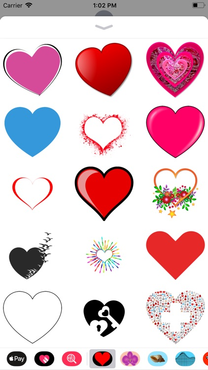 Only Heart Stickers