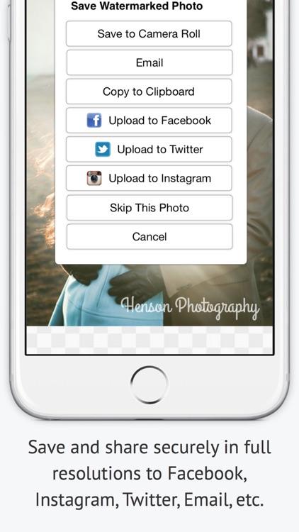 iWatermark - Watermark Photos screenshot-4