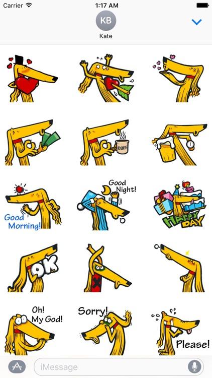 Afghan Hound Dog Emoji Sticker