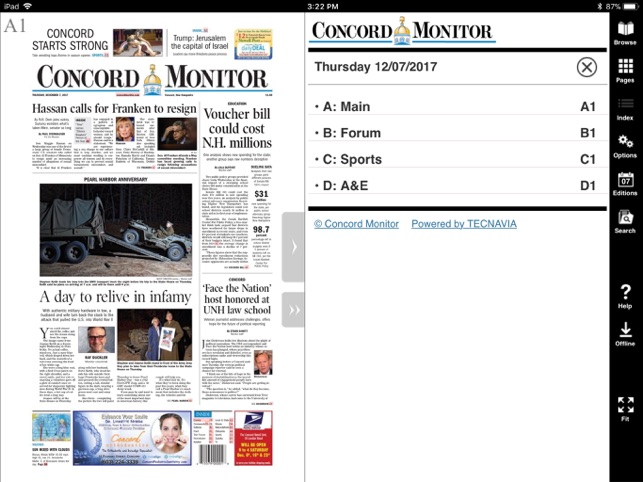 Concord Monitor EEdition On The App Store