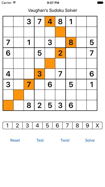 sudoku solver by vaughan harper