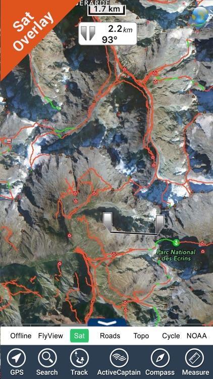 Ecrins National Park – GPS Map Navigator