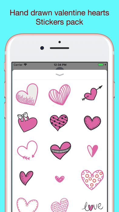 Screenshot for Hand drawn valentine hearts in Japan App Store
