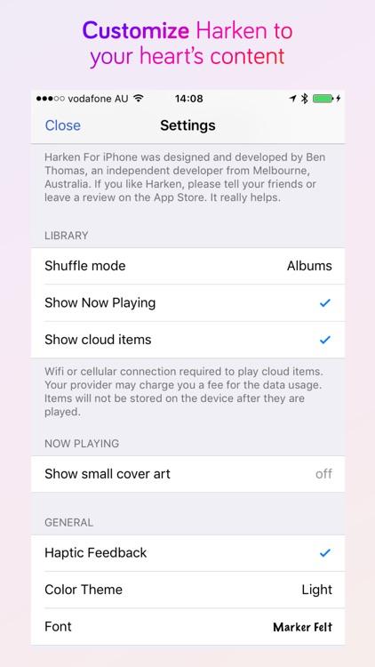 Harken Lite Music Player screenshot-3