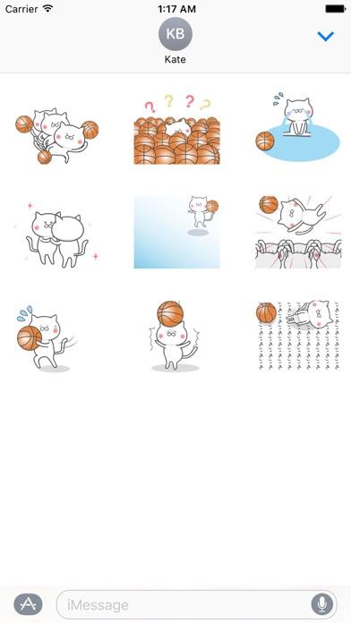 Animated Cat Loves Basketball screenshot 2