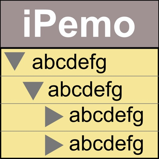 階層型メモ管理 iPemo