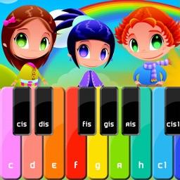 Pianinko - dziecięce piosenki i plansze z nutkami